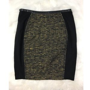 Yoana baraschi anthropologie woven  pencil skirt